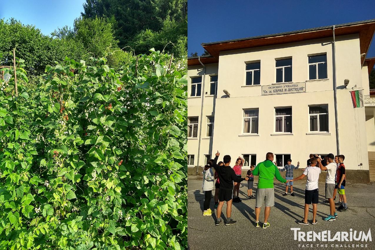 2 село Арда - нацъфтял Смилянски боб и загрявка в двора на училището