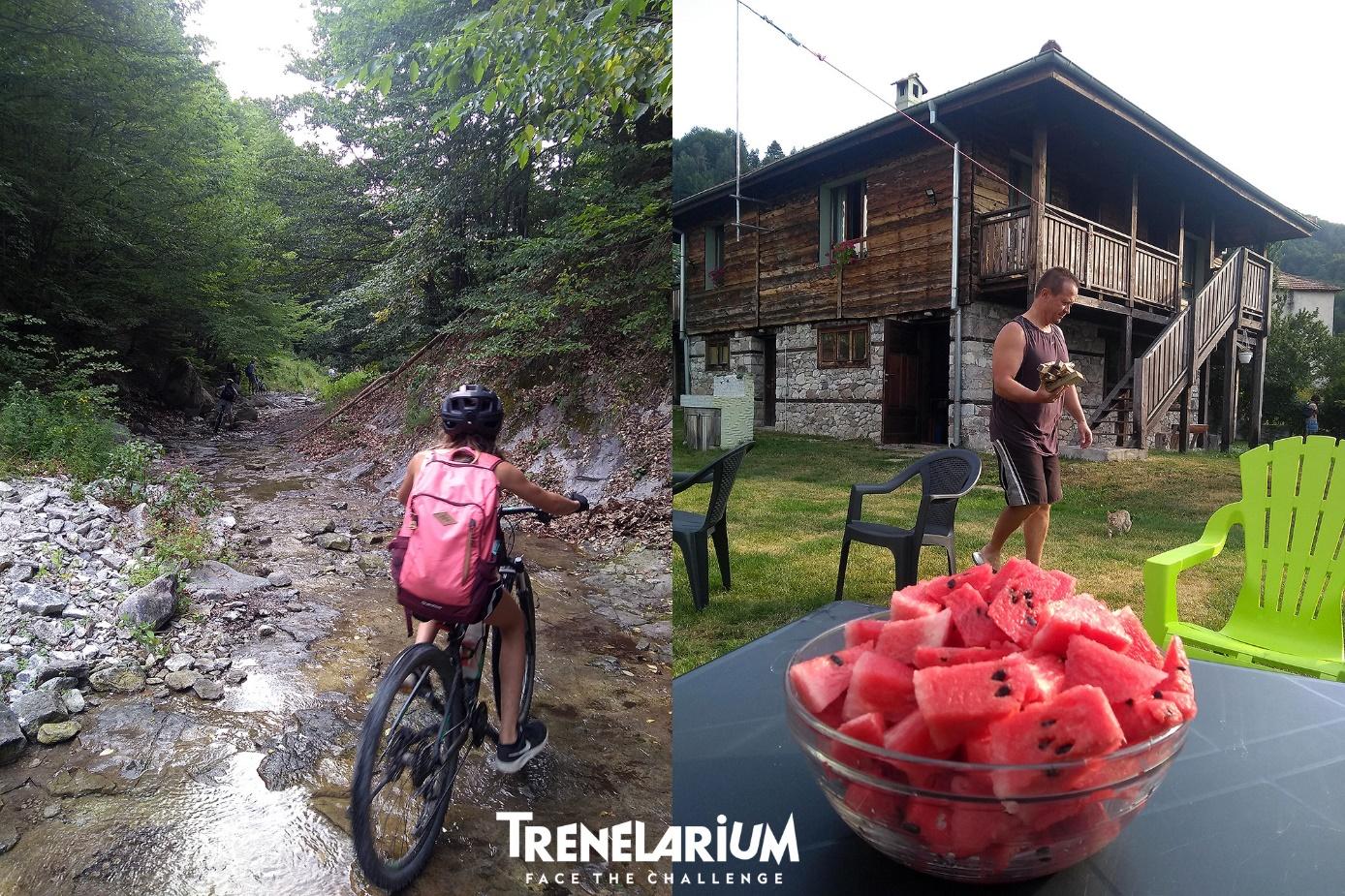 26 Каране в коритото на реката и супер къщата ни в Мостово